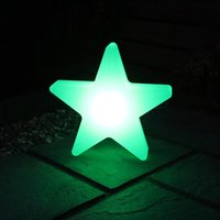 Wholesale 4 pieces new brand outdoor landscape PP waterproof colorful Star Glow LED Luminous Light star led lamp for Christmas showing lighting