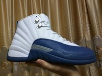 polyester satin - Drop shipping Super Perfect Quality RETRO Flu Game French Blue The Master OVO white With Box Men Basketball Sport Shoes