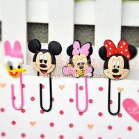 PVC handmade multicoloured 4PCS Mickey Minnie Cartoon Mini metal Bookmarks,PVC Paper Clips,Cartoon Bookmarks for Books Pages Holder,DIY Paper Clips Favorites