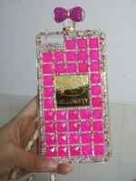 clip handbag - Iphone plus Case luxury Phone Cases Rose Hello Kitty Perfume with Diamond Bottle Style Handbag TPU Cover for Iphone plus