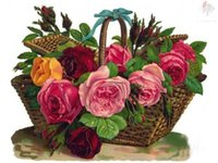 beauty basket - beauty flower basket Diy D full square Drill Diamond Painting Cross Stitch Pasted Painting diamond embroidery