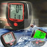 Wholesale 2014 Hot Sales Bicycle Accessories Backlight LCD Bike Bicycle Computer Odometer Speedometer SV005108