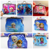 Wholesale Frozen Girls D Cartoon Coin Purse Snow Queen Wallet Chilldren Princess Elsa Anna Money Bag Party Supplies Christmas Gift Children s Purse