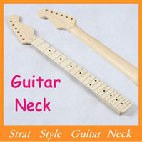 Wholesale High Quality BRAND NEW Replacement ST Strat Stratocaster Electric Guitar Maple Neck FingerboardStrat Style Guitar Neck Via DHL