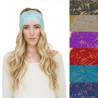 Wholesale 10 Colors New Women Bohemia Lace Flower Headbands European Style Ladies Fashion Vintage Hair bands Headwear accessories Party Decoration