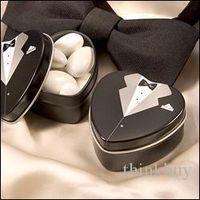 Cheap Bride groom Mint tin wedding favor box 200PCS LOT dressed to the nines wedding candy box 052929
