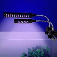 Wholesale Adjustable W LED Aquarium Lamp Aquatic Plants Growing Lights With Clip