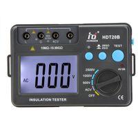 Wholesale Professional Voltmeter V w LCD Backlight HD Digital Voltage Insulation Resistance Tester Meter Megohmmeter HDT20B