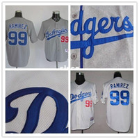 angeles buy - 30 Teams New Arrival Manny Ramirez jersey Los Angeles Baseball Jerseys white gray cheap Authentic sport best buy direct china