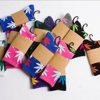 huf plantlife socks - 40 Colors Christmas Plantlife Socks Unisex Cotton Men Women Skateboard Hiphop Leaf Maple Leaves Socks Stockings DHL Ship SC