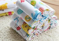 Wholesale 5pcs Cotton honeycomb gauze baby towels cm kids Bath Towels infant handkerchief washcloth sweat towel for bathing T3200