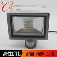 Wholesale 20W Cool White SMD LED Flood Light Motion Sensor Outdoor Garden Lamp Light IP65