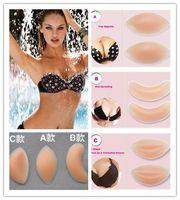Cheap 3 Types Womensilicone inserts Push Up Invisible Gel Bra Insert Pads Breast Lift Up Enhancers sutian adesivo Bikini Swimwear Accessories