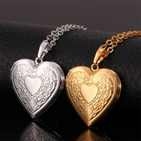 beaded jewelry patterns - Vintage Lovely Heart Pattern Photo Locket Pendants K Real Gold Platinum Plated Choker Necklace Charms Jewelry