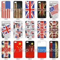 Wholesale Newest Cell Phone Case National Flag Cases For Iphone6 Iphone5 Iphone5S Iphone4 Iphone4S Plastic Cellphone Case Iphone inch inch