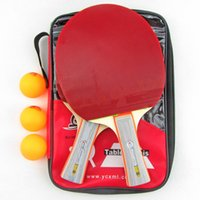 Wholesale Good quality Wood ping pong paddle table tennis rubber with sponge pingpong bat racket blade blades tenis rackets to butterfly tenergy dhl