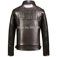 air free sheeps - Fall Air Force jacket oblique zipper machine wagon coats sheep skin men s leather jacket
