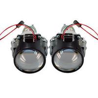 Wholesale New Single2 quot Car Xenon Mini Bixenon HID W Clear Projector Lens Shroud Headlight H1 In Stock