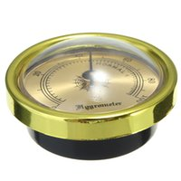 best indoor temperature - Best Price Vintage GOLD Color Smoking Tobacco Hygrometer for Cigar Humidor Humidors MM