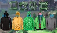 full zip hoodie - 5 styles Youth Minecraft Ocelot Hoodies minecraft Enderman TNT jumpers unisex fashion Minecraft Zip Hoodies Minecraft Jacket outwear