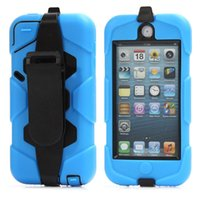 Wholesale Heavy Duty Shockproof Cover Case Clip for iPod Touch Gen th Colors