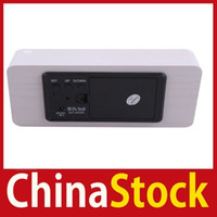 antique wood desks - China Stock White Wood White LED Office Desk Wooden Digital Voice Alarm Clock Better Price