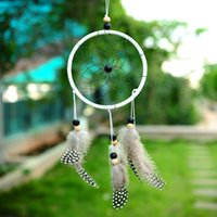 Wholesale New Handmade Dreamcatcher Wall Hanging Ornament by Guineafowl Feather
