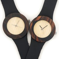gift items - HOT SALE WOOD ITEM Natural Black Wood Wrist Watch Japan Quartz Movement Wooden Watch New Fashion Watch Clock For Gifts Item