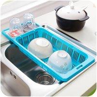dishwasher - Colorful can hanging kitchen sink draining rack home and practical vegetables basin dishwasher racks drain basket