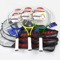 tennis racquets - Top quality Regail Aluminum Alloy Tennis Racket head tenis raquete de tennisTraining Tennis Racquet With Bag and String color A5 A5