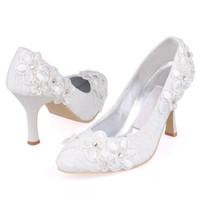 ballet shoes cheap - 2015 Cheap Vintage Lace Wedding Shoes White Ivory Red Blue cm Stiletto Heel Round Toe Rhinestone Satin Elegant Wedding Party Bridal Shoes