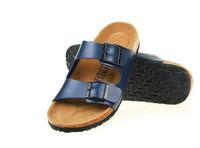 Wholesale summer fashion men Woman PU leather flats sandals Cork slipper unisex casual Beach slippers color size