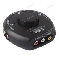 Acheter Av splitter audio vidéo-Dealward Limited Sales! 3 voies Audio Video AV RCA Switch Selector Box Splitter w 3 Câble RCA pour XBox PS2 Top grade