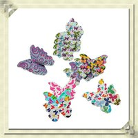Wholesale 50pcs Mixed Wooden Butterfly Buttons Fit Sewing and Scrapbook x20 mm Scrapbooking Sewing Accessories