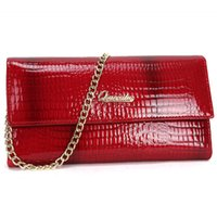 Cheap 2016 New Hot Women Genuine Leather Wallet Evening Handbag Woman Bags Chain Designer Cluthes Purses Card Holder Ladies Alligator Wallets