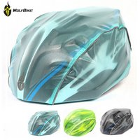 Wholesale Wolfbike Colors New Windproof Waterproof Dust proof Rain Cover MTB Road Bike Helmet Cover Bicycle Cycling Helmets Covers