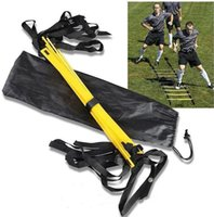 Wholesale 1PCS BBA4161 Durable rung Agility Ladder For Soccer Speed Football Fitness Feet Training Soccer training equipment Outdoor Fitness ladder