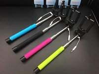 Wholesale Handheld Selfie stick phone camera in1 Audio cable self timer shutter no need bluetooth monopod mm for iphone Samsung Portrait controler