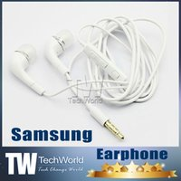 Wholesale Earphones mm earphone In Ear Stereo Headset Headphones With Mic and Remote Volume Control For S Samsung Galaxy S3 S4 S5 Note