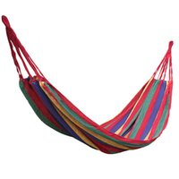 Cheap Outdoor Canvas Garden Camping Portable Travel Beach Fabric Swing Bed Hammock