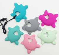 Wholesale NEW Very Large seaTurtles Silicone Teething Chew Pendant or Teether Necklace pendant