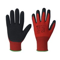 latex coated gloves - Red polyester seamless shell latex coated gloves GLT317RED R