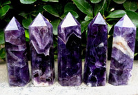 quartz crystal point - 5pcs Natural Dream amethyst quartz crystal wand POINT HEALING mm