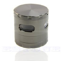 Wholesale mm Piece Zinc Alloy Hand Crank Herb Mill Crusher Tobacco Smoke Grinder