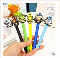 Wholesale Newest star wars Stationery Cute Cartoon Neutral Pen Student School Gel pen Office supplies Star Wars Pens A563