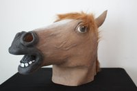 Wholesale Creepy Latex full Head Horse Mask for Masquerade Party Halloween Cosplay Mask Animal Latex Mask