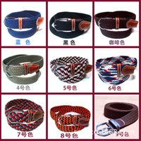 elastic stretch belt - Men s Braided Elastic Stretch Belt leisure pin buckle belt belt fashion personality of men s accessories colors retail