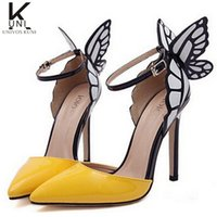 Wholesale Shoes Woman New Brand Women Shoes High Heels Butterfly Shoes Pointed Toe Pumps Wedding Shoes Sandals DHZ321