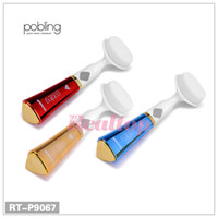 Wholesale NEW pobling Ultrasonic Face Brush Eletrical Facial Cleansing Tool Machine Facial brush Pore Sonic Cleanser Red Gold Blue color