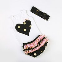 baby birthday boutique - baby clothes embroider heart top ruffle bloomer set princess girls boutique clothing polka dots birthday outfit